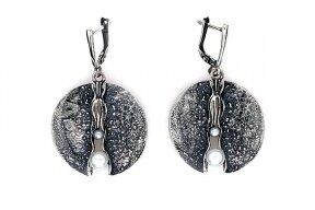 Auskarai su kultivuotais perlais A0000301850