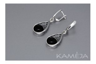 Earrings with black onyx A2853350640