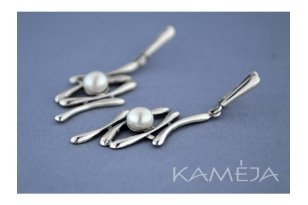 Auskarai su kultivuotais perlais A1056300720