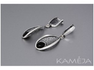 Earrings with black onyx A2803350540