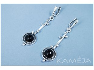 Earrings with onyx A1709251270
