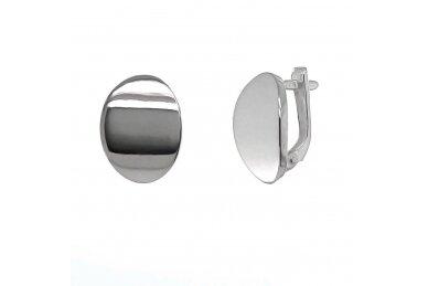 Minimalistinio stiliaus ovalo formos auskarai