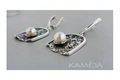 Auskarai su kultivuotais perlais A1691301190