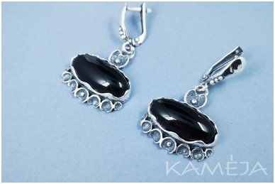 Earrings with onyx A2666300940 2