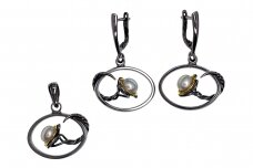 Cultured Pearl Silver Set