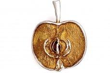 "Brooch with Cubic Zirconia ""Apple"" SA218351320"
