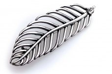 Silver Feather Brooch SA342350530