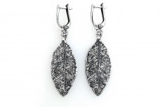 Sterling Silver Leaf Earrings A1860300600