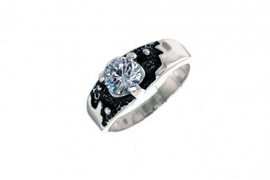 Sidabrinis žiedas su cirkoniu Z0702350330