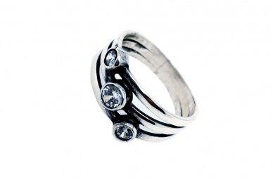Sidabrinis žiedas su cirkoniu Z1542350400