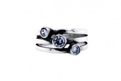 Sidabrinis žiedas su cirkoniu Z1542350400 2