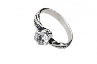 Sidabrinis žiedas su cirkoniu Z1783350330