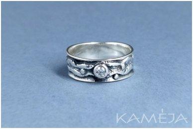 Sidabrinis žiedas su cirkoniu Z1840350520 2