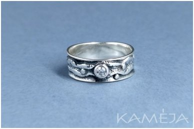 Sterling silver ring with Cubic Zirconia Z1840350520 2