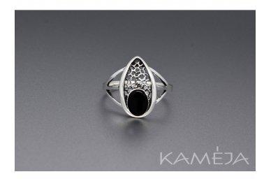 Žiedas su juoduoju oniksu Z1786350310