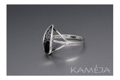 Žiedas su juoduoju oniksu Z1786350310 2
