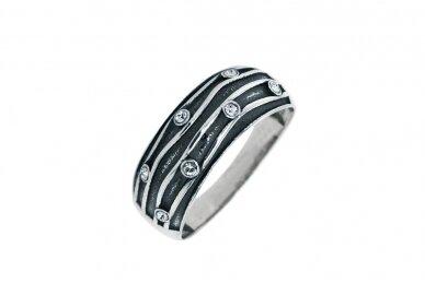 Žiedas su Swarovski kristalais Z2076400250