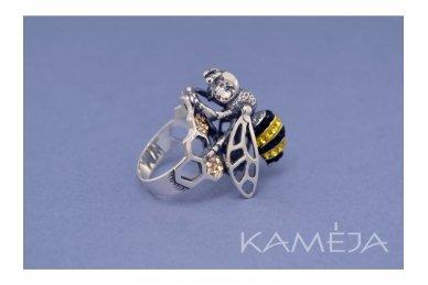 Žiedas su Swarovski kristaliukais Z1569601050